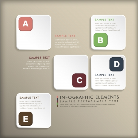 realistic vector abstract 3d tag infographic elements Vector