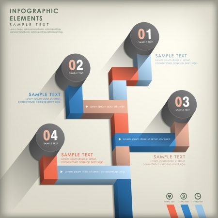 realistic vector abstract 3d paper infographic elements Vector