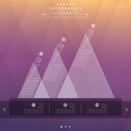 ui design: vector abstract flat design infographic elements