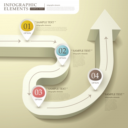 vector abstract flow chart infographic elements Çizim