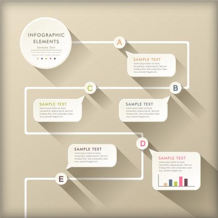 vector abstract plat ontwerp stroomschema infographic elementen