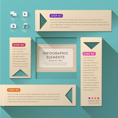 version: vector abstract flat design infographic elements