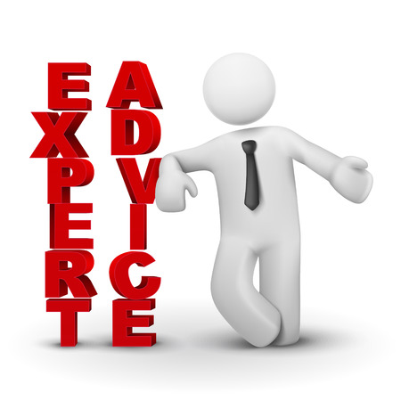 experte: 3d Gesch�ftsmann pr�sentiert Konzept der Experten advicet isoliert wei�em Hintergrund Illustration