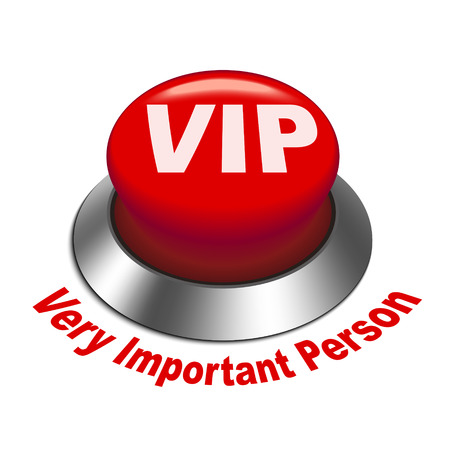 very important person: 3d illustration of vip ( very important person ) button isolated white background Illustration
