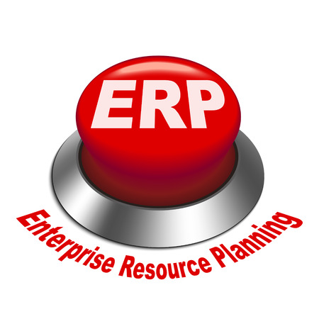 controller: 3d illustration of ERP Enterprise Resource Planning isolated white background Illustration