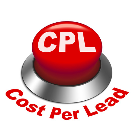 advertiser: 3d illustration of cpl - cost per lead button isolated white background Illustration