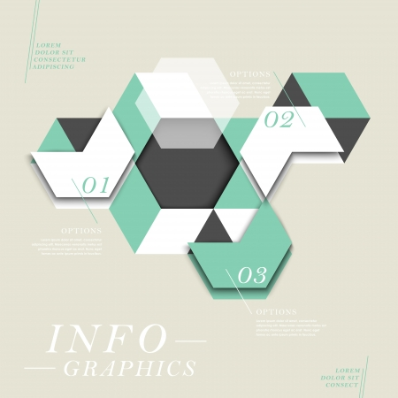modern vector abstract hexagon infographic elements Vector