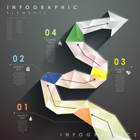 flat design vector abstract flow chart infographic elements Ilustração