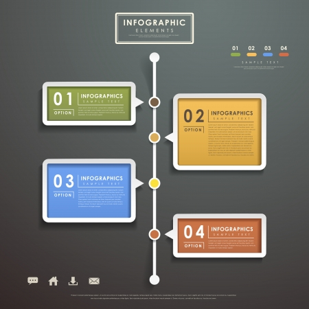 chart vector: modern vector abstract flow chart infographic elements