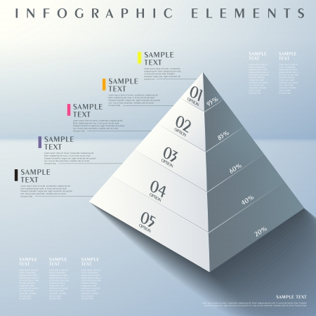 3d modern vector abstract pyramid infographic elements Vector