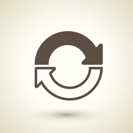 refresh button: retro style refresh icon isolated on brown Illustration