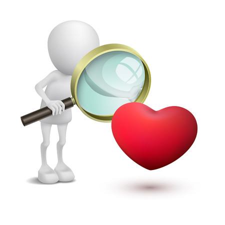mirando: 3 � persona cuando se mira en un coraz�n