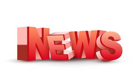 3D News word isolated white