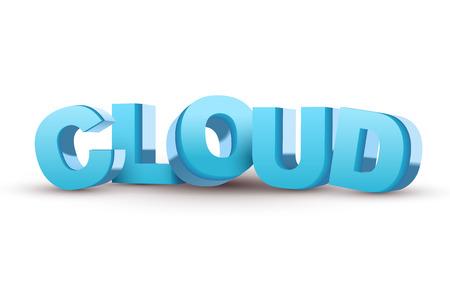 mass storage: blue word Cloud isolated white  Illustration