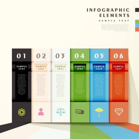 flat design abstract bar infographic elements Vector