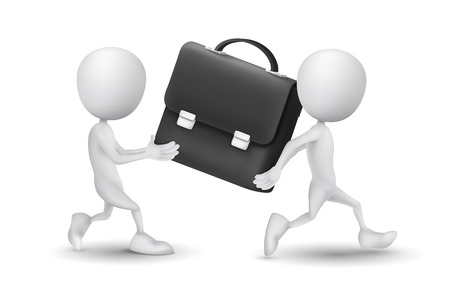 briefcase icon: two people carried a briefcase
