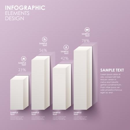 bar chart: modern abstract bar chart infographic elements