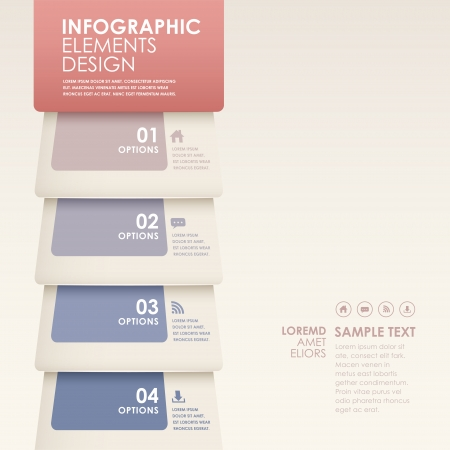modern abstract 3d pages infographic elements Vector