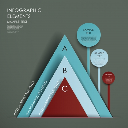 modern abstract 3d pyramid chart infographic elements Vector