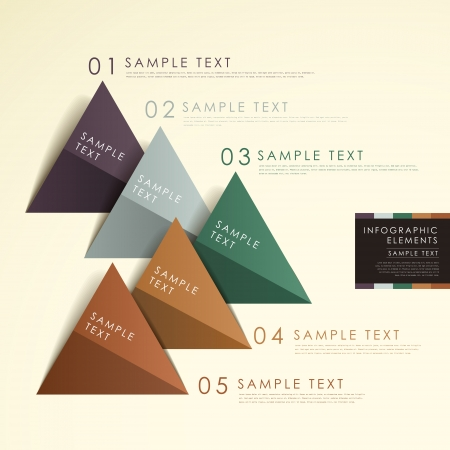 modern abstract origami pyramid chart infographic elements Vector
