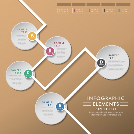 modern abstract floe chart infographic elements Vector