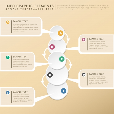 modern abstract floe chart infographic elements Stock Vector - 25160957