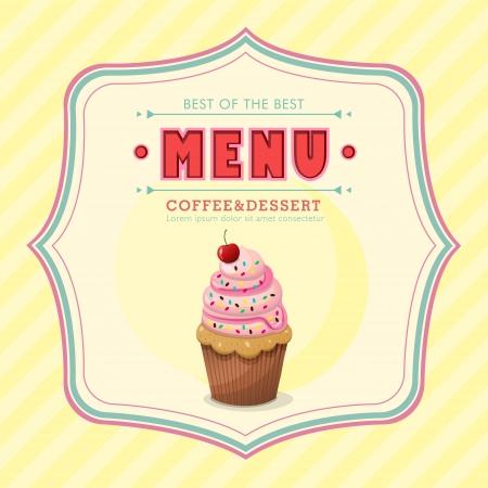 gelato: restaurant ice cream menu cover vector design template