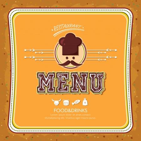 brochure cover design: vector restaurant menu brochure cover design template