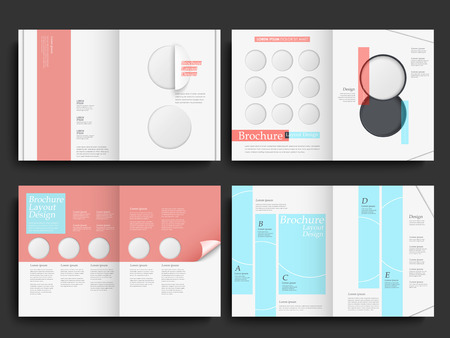 Template of brochure design with spread pages Vector