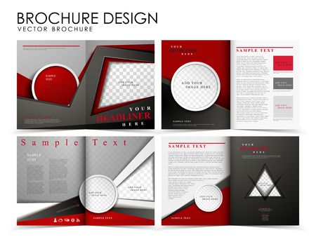 Template of brochure design with spread pages