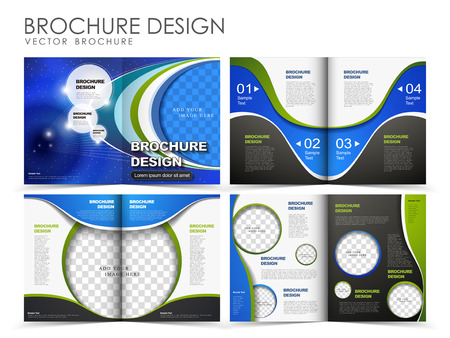 Template of brochure design with spread pages Фото со стока - 25520253