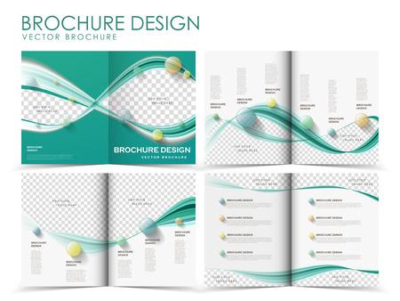 見開きページのパンフレットのデザイン テンプレート