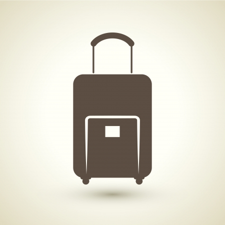 trolley case: retro style baggage icon isolated on brown background