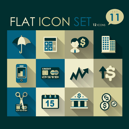 investing   finance icon set vector flat design Vector