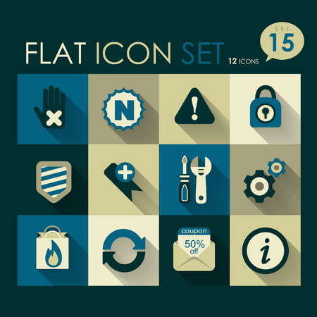 internet   web icon set vector flat design Vector