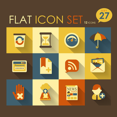 internet   web icon set vector flat design Vector