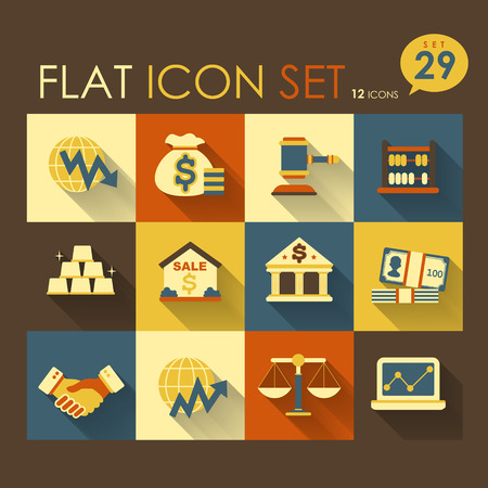 cash flows: economic activities   financial icon set vector flat design Illustration