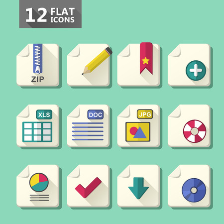 vector modern flat design computer icon set Vector