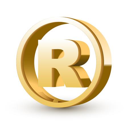trademark: fondo blanco aislado signo marca registrada