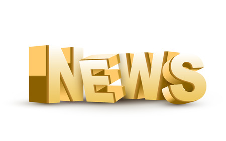 news update: 3D News word isolated white background Illustration
