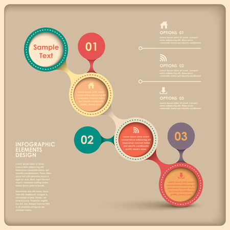 3d vector abstract flow chart infographic elements Vector