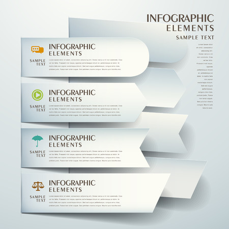 origami banner: 3d vector abstract origami banner infographic elements Illustration