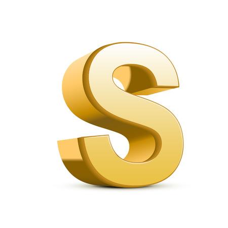 Isolé sur fond blanc lettre d'or 3d de Banque d'images - 26030121
