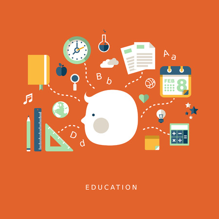 modern flat design style concept of education Vector