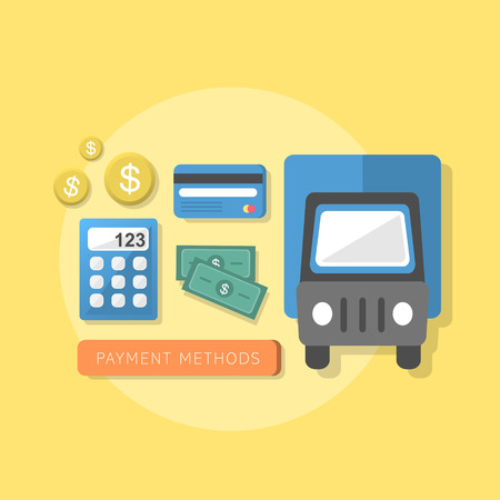 methods: flat design style concept of payment methods