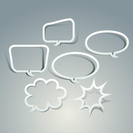 hollow: abstract hollow paper speech bubble design elements