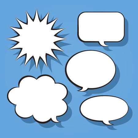comic bubble: abstract white comic speech bubble design elements