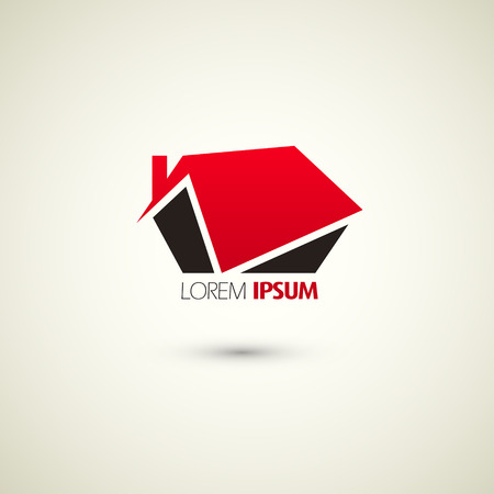 real estate logo template over white background Illustration