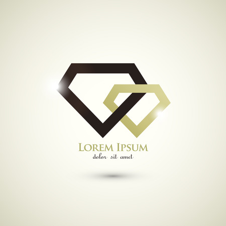 fashion diamond luxury concept abstract logo template Vector