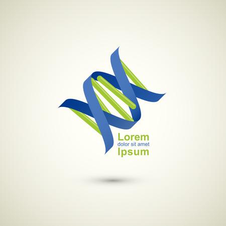 abstract technology vector logo design template DNA theme